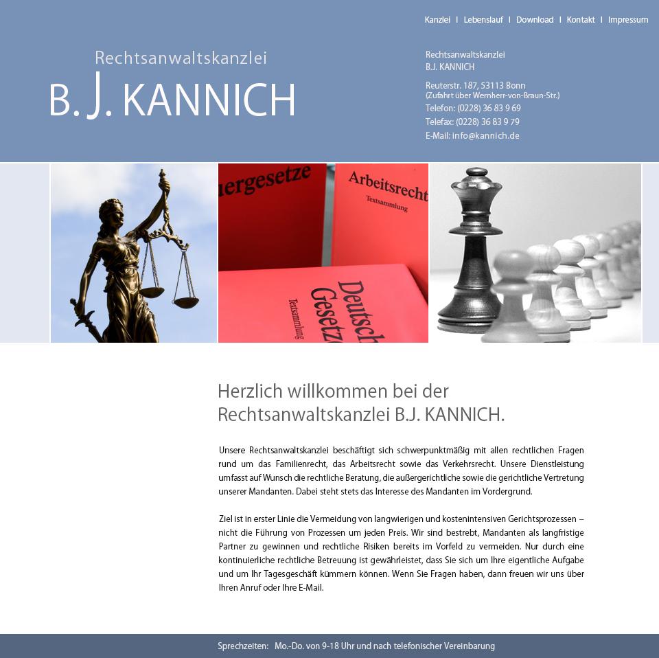 Rechtsanwaltskanzlei B J KANNICH